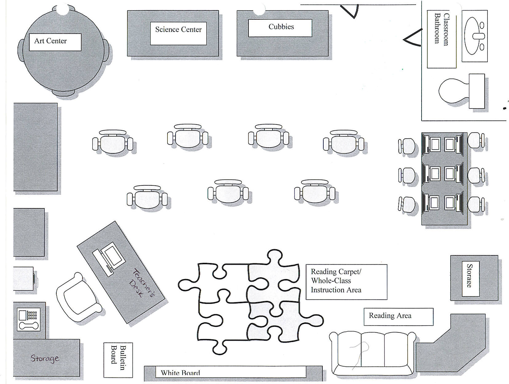 Classroom Design Floor Plan ~ Erin scott professional portfolio ideal classroom floor